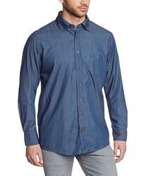 Chemise à manches longues bleue Casamoda