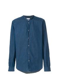 Chemise à manches longues bleue Dondup