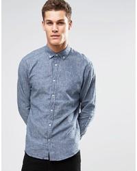Chemise à manches longues bleue Esprit