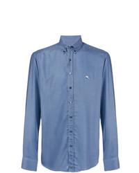 Chemise à manches longues bleue Etro