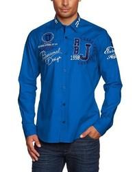 Chemise à manches longues bleue Redbridge