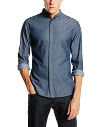 Chemise à manches longues bleue RVLT Revolution