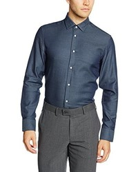 Chemise à manches longues bleue Selected