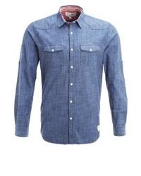 Chemise à manches longues bleue Tom Tailor