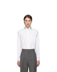 Chemise à manches longues brodée blanche Gucci
