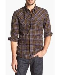 Chemise à manches longues brune foncée