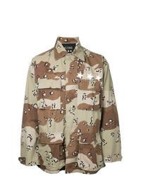 Chemise à manches longues camouflage marron clair