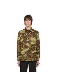 Chemise à manches longues camouflage marron clair Givenchy
