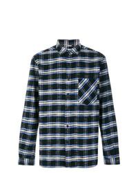 Chemise à manches longues écossaise bleu marine TOMORROWLAND
