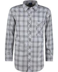 Chemise à manches longues écossaise grise