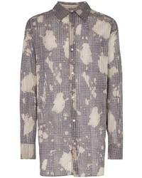 Chemise à manches longues écossaise grise Bed J.W. Ford