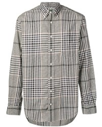 Chemise à manches longues écossaise grise Gitman Vintage
