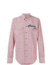 Chemise à manches longues écossaise rouge Dolce & Gabbana