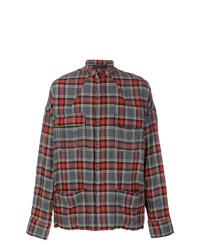 Chemise à manches longues écossaise rouge Haider Ackermann