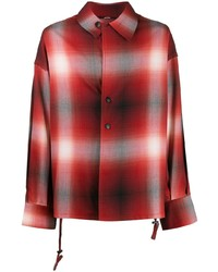 Chemise à manches longues écossaise rouge Indice Studio