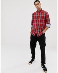 Chemise à manches longues écossaise rouge Polo Ralph Lauren