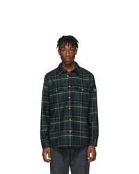 Chemise à manches longues écossaise vert foncé Aimé Leon Dore