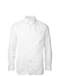 Chemise à manches longues en chambray blanche