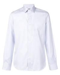 Chemise à manches longues en chambray bleu clair Canali