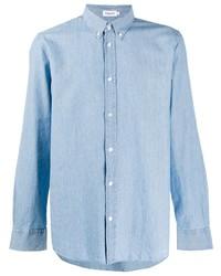 Chemise à manches longues en chambray bleu clair Filippa K