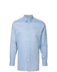 Chemise à manches longues en chambray bleu clair Gieves & Hawkes