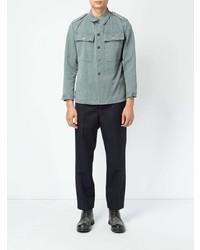 Chemise à manches longues en chambray bleu clair Myar