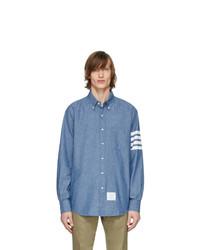 Chemise à manches longues en chambray bleu clair Thom Browne