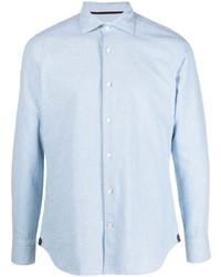 Chemise à manches longues en chambray bleu clair Tintoria Mattei