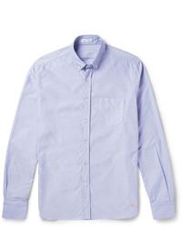 Chemise à manches longues en chambray bleu clair Tomas Maier