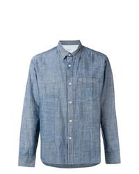 Chemise à manches longues en chambray bleu clair Universal Works