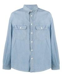 Chemise à manches longues en chambray bleu clair VISVIM