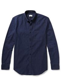 Chemise à manches longues en chambray bleu marine Club Monaco