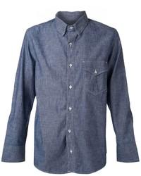 Chemise à manches longues en chambray bleu marine Rag and Bone