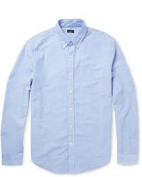 Chemise à manches longues en chambray bleue claire