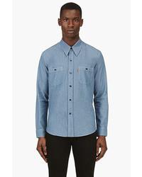 Chemise à manches longues en chambray bleue Levi's