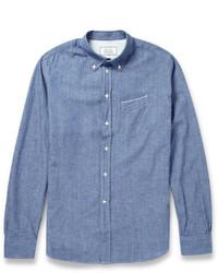 Chemise à manches longues en chambray bleue Officine Generale
