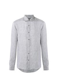 Chemise à manches longues en chambray grise Michael Kors Collection