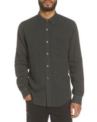 Chemise à manches longues en chambray noire