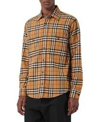 Chemise à manches longues en flanelle à carreaux marron clair