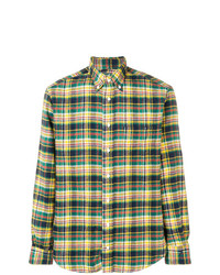 Chemise à manches longues en flanelle à carreaux multicolore Gitman Vintage