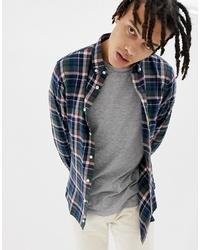 Chemise à manches longues en flanelle à carreaux multicolore Penfield