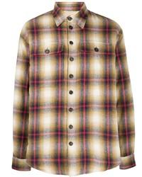 Chemise à manches longues en flanelle écossaise multicolore DSQUARED2