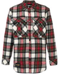 Chemise à manches longues en flanelle écossaise multicolore Stella McCartney