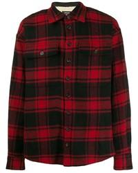 Chemise à manches longues en flanelle écossaise rouge DSQUARED2