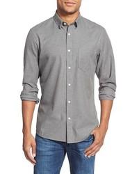 Chemise à manches longues en flanelle grise