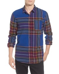 Chemise à manches longues en flanelle multicolore