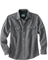 Chemise à manches longues en laine grise
