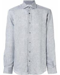 Chemise à manches longues en lin grise Boglioli