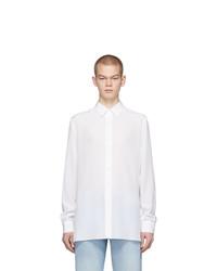Chemise à manches longues en soie blanche
