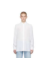 Chemise à manches longues en soie blanche Valentino